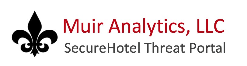 Secure Hotel - Muir Analytics SecureHotel Threat Portal